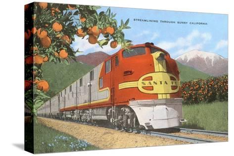 Streamlining through California, Oranges Pingotettu canvasvedos