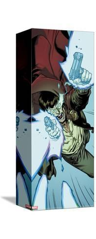 New Avengers No.62 Cover: The Hood Stretched Canvas Print