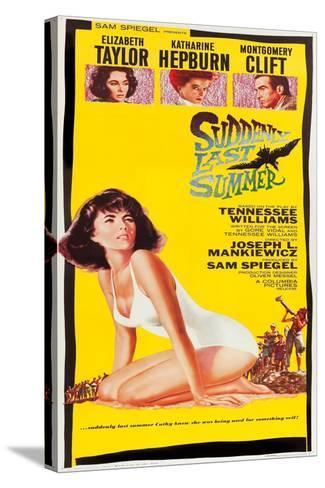 Suddenly Last Summer, Elizabeth Taylor, Katharine Hepburn, Montgomery Clift, 1959 Sträckt kanvastryck