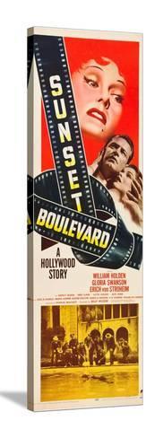 Sunset Boulevard, Gloria Swanson, William Holden, Nancy Olson, 1950 Stretched Canvas Print