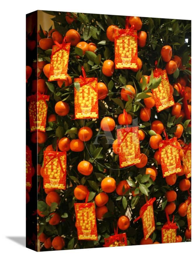 Tangerine Good Luck Symbols Chinese New Year Decoration Macao