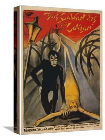 The Cabinet of Dr. Caligari, Italian Movie Poster, 1919 Stretched Canvas Print