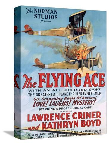 The Flying Ace Movie Poster Stampa su tela