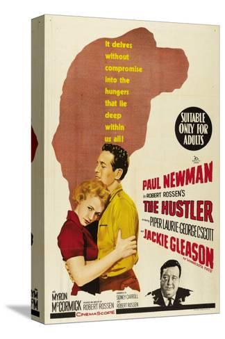 The Hustler, Australian Movie Poster, 1961 Stretched Canvas Print