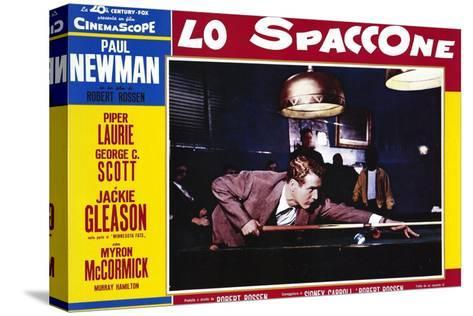 The Hustler, Italian Movie Poster, 1961 Stretched Canvas Print