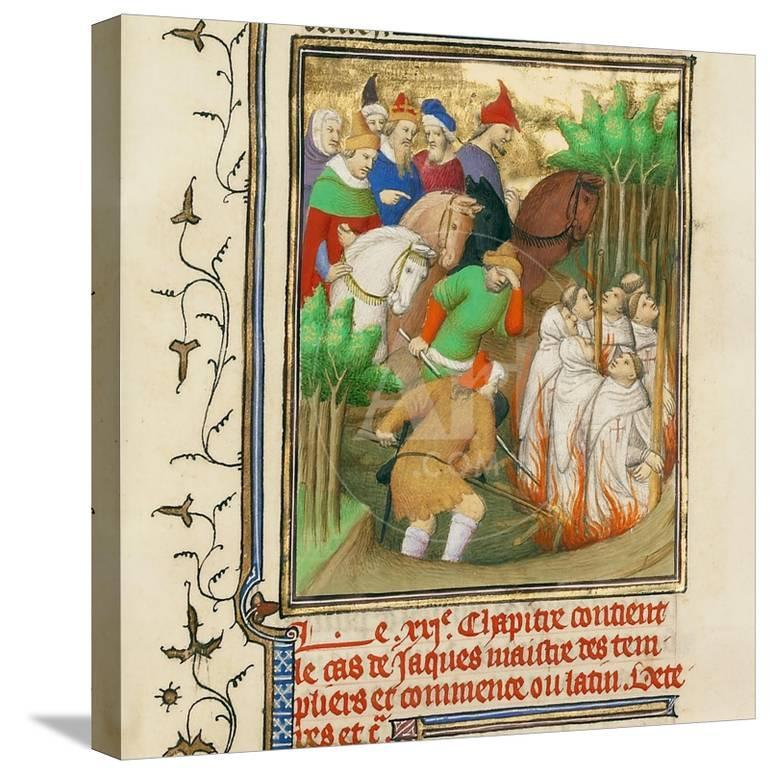 The Knights Templar Burned in the Presence of Philip the Fair and His  Courtiers, Ca 1413-1415