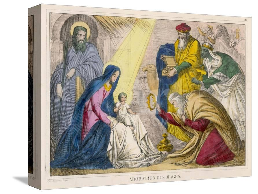 The Magi Present Young Jesus With Birthday Gifts They Have Brought Him Giclee Print At AllPosters