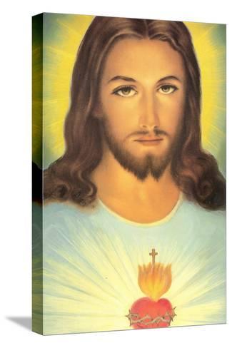 The Sacred Heart of Jesus, 19th Century Reproducción de lámina sobre lienzo