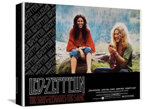 The Song Remains the Same, Robert Plant, 1976 Stretched Canvas Print