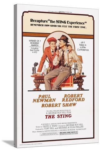 The Sting, from Left: Robert Redford, Paul Newman, 1973 Impressão em tela esticada