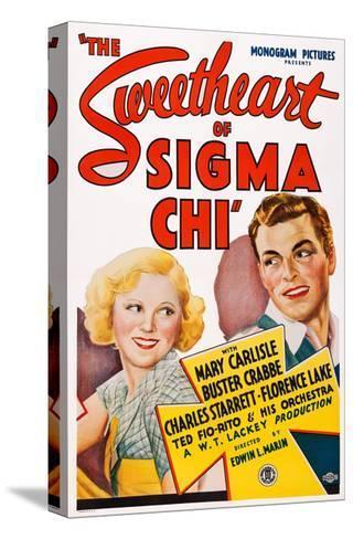 The Sweetheart of Sigma Chi, from Left: Mary Carlisle, Buster Crabbe, 1933 Reproducción de lámina sobre lienzo
