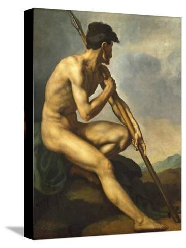 Nude Warrior with a Spear, C.1816 Reproducción de lámina sobre lienzo