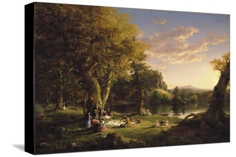 The Pic-Nic, 1846 Reproducción de lámina sobre lienzo