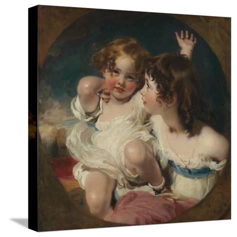 The Calmady Children (Emily, 1818–1906, and Laura Anne, 1820–94), 1823 Reproducción de lámina sobre lienzo