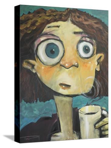 Her First Sip of Coffee Pingotettu canvasvedos