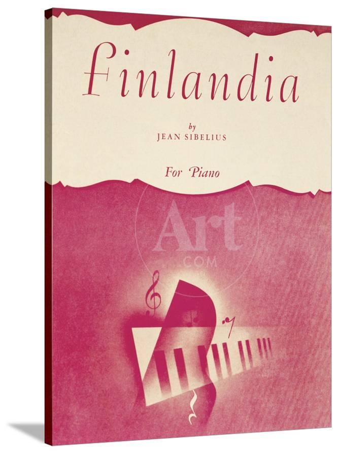 Title Page Of Score Of Finlandia Symphonic Poem By Jean Sibelius Giclee Print Allposters Com