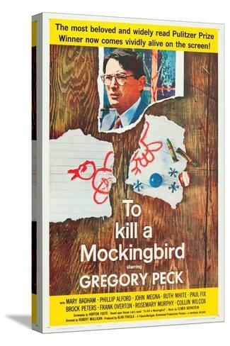 To Kill a Mockingbird, Gregory Peck, 1962 Stampa su tela