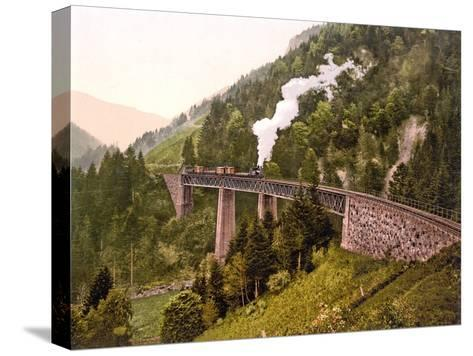 photo print on canvas or paper Wall Art. Train through the gorge