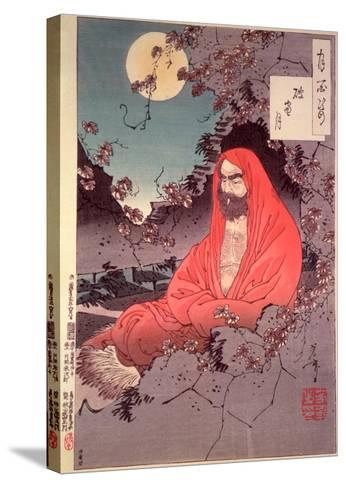 Meditation by Moonlight, (Colour Woodblock Print) Reproducción de lámina sobre lienzo