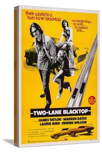 Two-Lane Blacktop, James Taylor, Laurie Bird, Dennis Wilson, 1971 Stretched Canvas Print