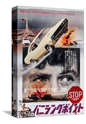 Vanishing Point, Japanese Poster Art, Barry Newman, 1971 Impressão em tela esticada