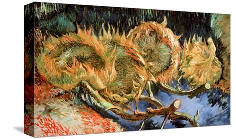 Four Cut Sunflowers, c.1887 Reproducción de lámina sobre lienzo