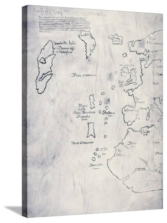 Oldest Map Of America.Vinland Map Oldest Map Of Greenland And Northern America Areas