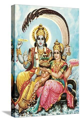Vishnu and Lakshmi Reproducción de lámina sobre lienzo