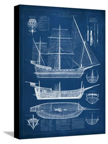 Antique ship blueprint i stretched canvas print by vision studio antique ship blueprint i malvernweather Gallery
