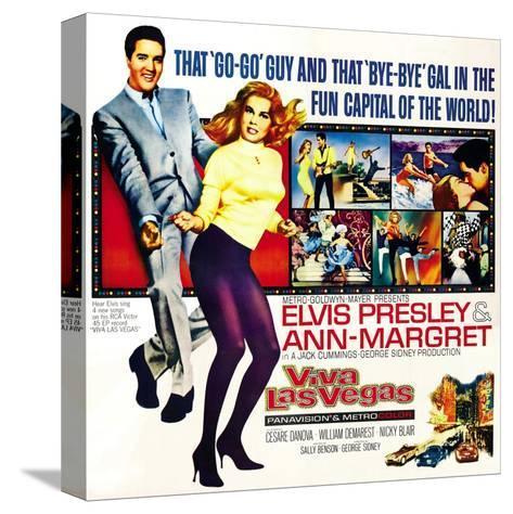 Viva Las Vegas, Elvis Presley, Ann-Margret, 1964 Stretched Canvas Print