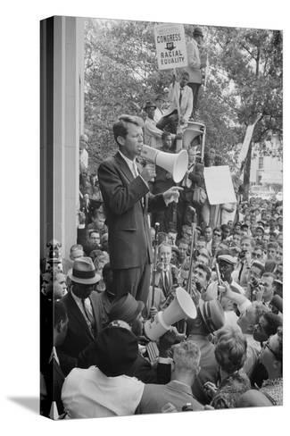 Leffler US Attorney General Robert Kennedy Crowd Canvas Wall Art Print Poster