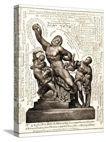 The Laocoon as Jehovah with Satan and Adam, C.1820 Reproducción de lámina sobre lienzo