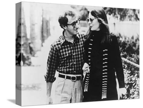 Woody Allen, Diane Keaton, Annie Hall, 1977 Stretched Canvas Print
