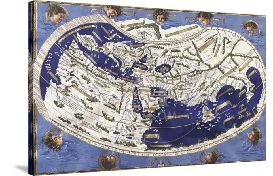 World Map According To Ptolemy S Views Giclee Print At Allposters Com
