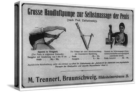 Zabludowsky's Pump for Self Massage of the Penis and of the Breast Reproducción de lámina sobre lienzo