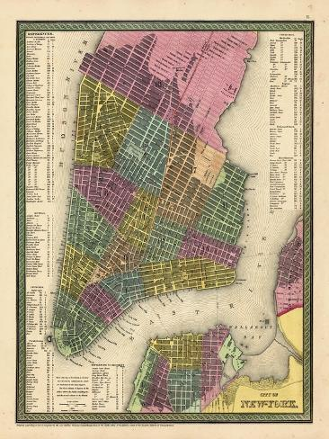 Map Of New York 1850.1850 New York City Battery Parkmap New York United States