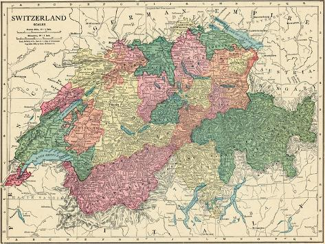 1913 Switzerland Europe Giclee Print At Allposters Com