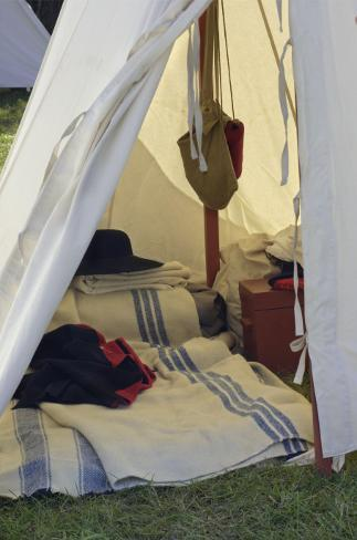 British Soldier's Tent, Revolutionary War Reenactment at Yorktown  Battlefield, Virginia