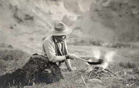 f4d8defefe9 Cowboy Cooking over Campfire Photo at AllPosters.com