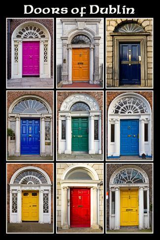 The Old Georgian Doors Of Dublin Print By Domenico Matteo At