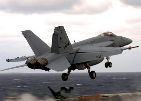36d0d6bb9c F A-18E Super Hornet (Take Off from Aircraft Carrier) Art Poster Print  Poster at AllPosters.com