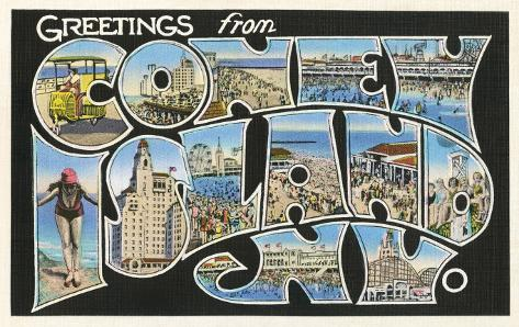 Greetings from coney island new york art at allposters m4hsunfo