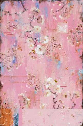 French Wallpaper Pink Premium Giclee Print by Kathe Fraga at AllPosters.com