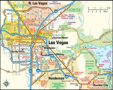 Las Vegas Nevada Area Map Art At Allposters Com