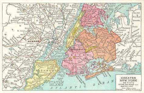 Map Of Greater New York City.Map Of Greater New York City