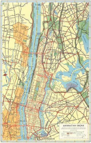 Map Of New York Bronx.Map Of Manhattan And Bronx New York