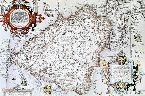Map Of South Spain.Map Of South America Private Collection Madrid Spain