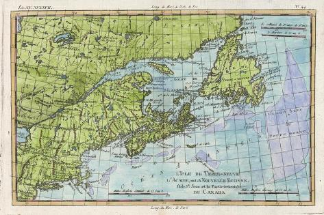 Map Of The East Coast Of Canada.Map Of The East Coast Of North America From New York To Newfoundland