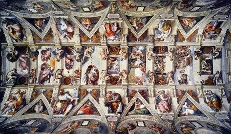The Sistine Chapel Ceiling Frescos After Restoration