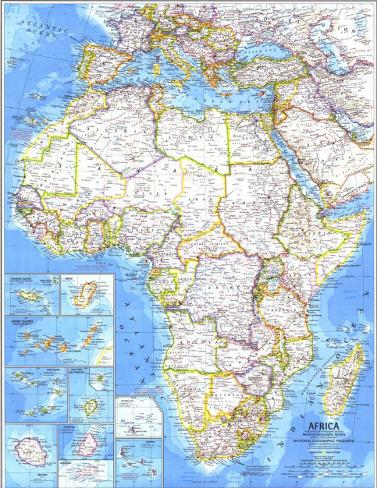 1980 Africa Map